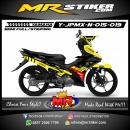 Stiker motor decal Jupiter MX New Yellow Tech