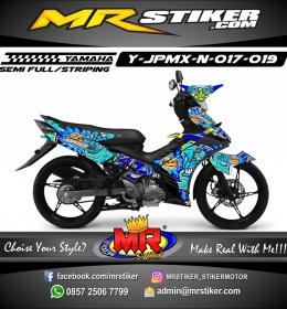 Stiker motor decal Jupiter MX New Blue SunMoon
