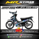 Stiker motor decal Jupiter Z Blue Strip Splat Silver Tech