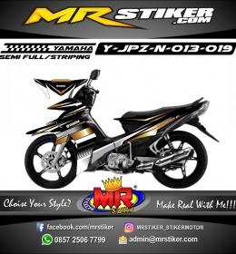 Stiker motor decal Jupiter Z New Strip White Gold