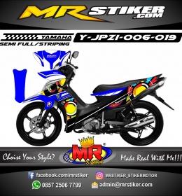 Stiker motor decal Jupiter Z1 Bluezoom Rossi
