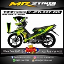Stiker motor decal Jupiter Z1 Green Tea Color