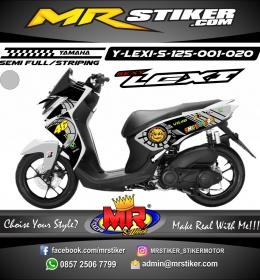 Stiker motor decal Lexi 125 Gray Sunmoon Rossi
