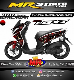 Stiker motor decal Lexi 125 Sonic Shadow War