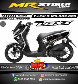 Stiker motor decal Lexi 125 Road Race splat