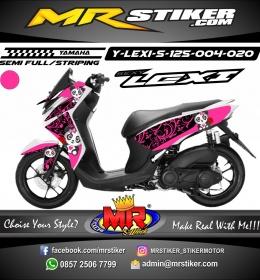 Stiker motor decal Lexi 125 Pink Flower Panda