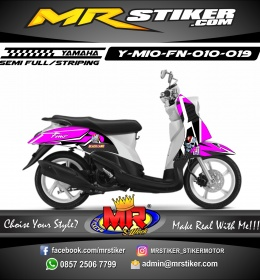 Stiker motor decal Mio Fino Purple neon Blackland