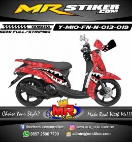 Stiker motor decal Mio Fino New Red Bape
