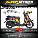 Stiker motor decal Mio Fino New Minions Splater rainbow