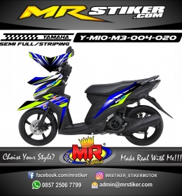 Stiker motor decal Mio M3 Blue Glass Green Stabillo