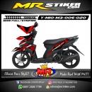 Stiker motor decal Mio M3 Red Techno