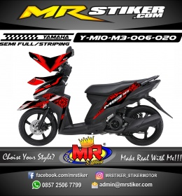 Stiker motor decal Mio M3 Red Techno