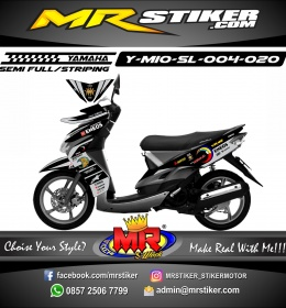 Stiker motor decal Mio Soul Gray Sunmoon Rossi