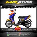 Stiker motor decal Mio Soul Blue Tech Race
