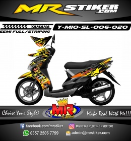 Stiker motor decal Mio Soul Alphinestar