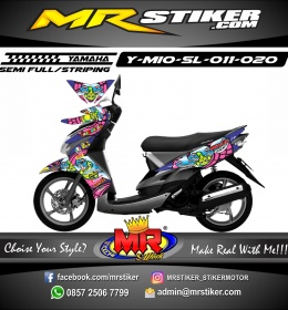 Stiker motor decal Mio Soul Mons Shark Rossi