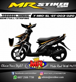 Stiker motor decal Mio Soul GT Dark Split Gold