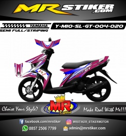 Stiker motor decal Mio Soul GT Maron Blue Color