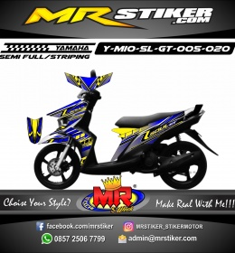 Stiker motor decal Mio Soul GT Mecha Graphic Race