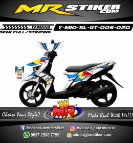 Stiker motor decal Mio Soul GT Wings RedBull
