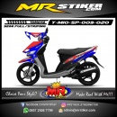 Stiker motor decal Mio Sporty Red Blue