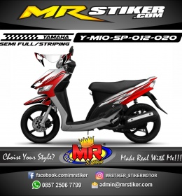 Stiker motor decal Mio Sporty AirBrush Tech