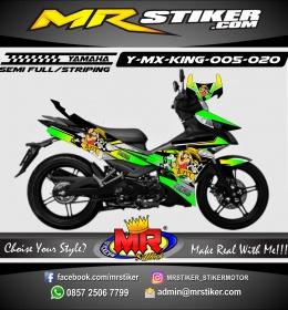 Stiker motor decal MX King ONEPIECE Luffy