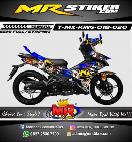 Stiker motor decal MX King Rumble Zomb