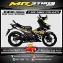 Stiker motor decal MX King Tech Carbon Brown