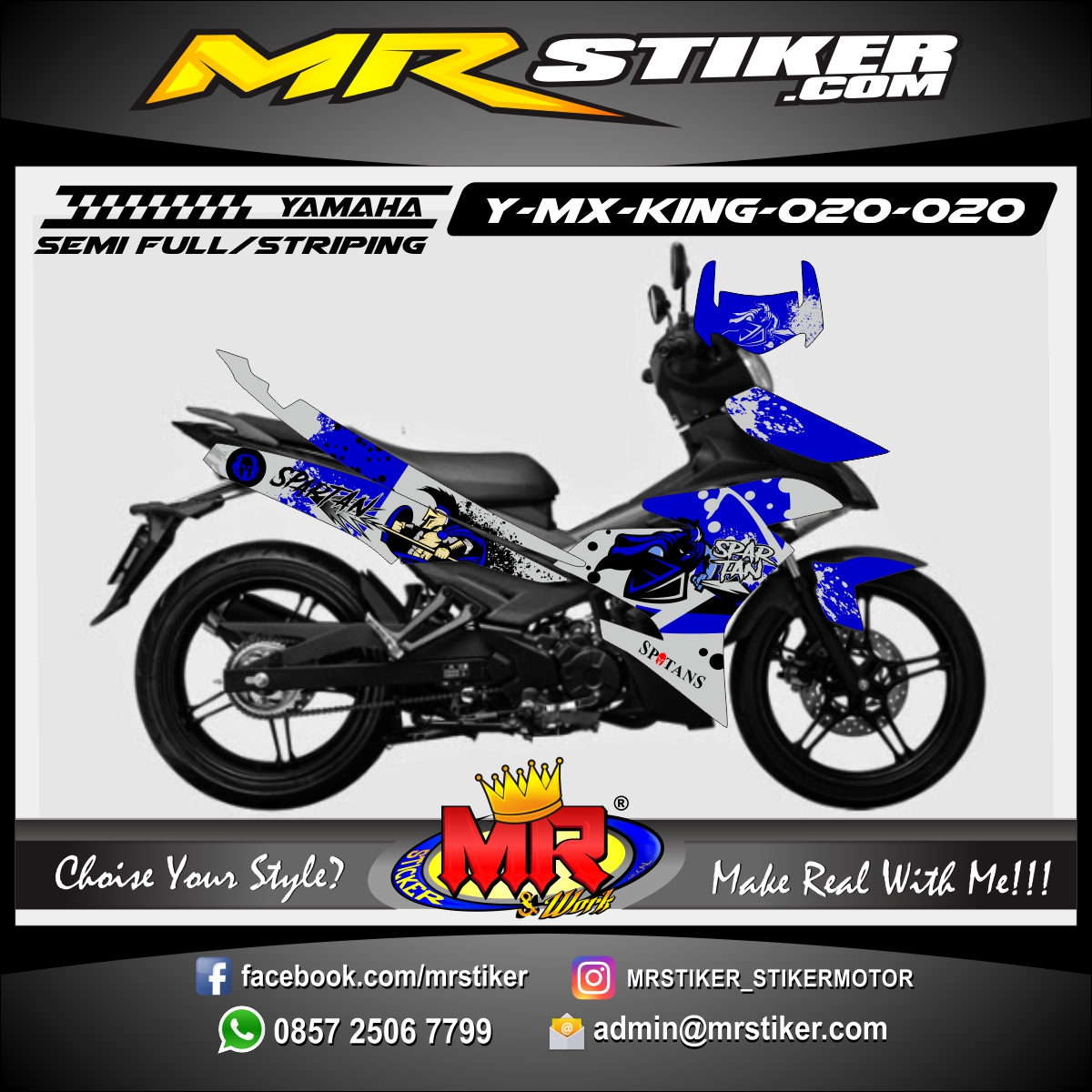 Stiker motor decal MX King Spartan