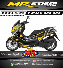 Stiker motor decal Nmax Bumble Bee Transformer