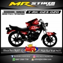Stiker motor decal RX King Red AirBrush