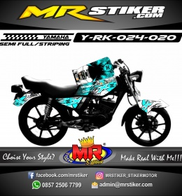 Stiker motor decal RX King Splater DC Blue Ice