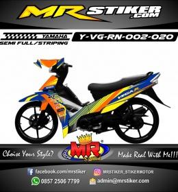 Stiker motor decal Vega R New Race Grafis Orange