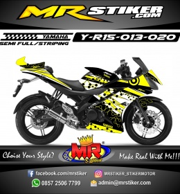 Stiker motor decal R15 Yellow molecule Grafis
