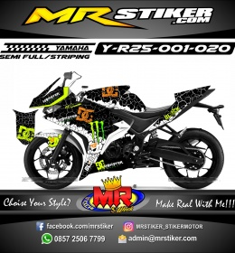 Stiker motor decal R25 Monster KenBlock