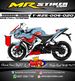 Stiker motor decal R25 Gummy Shark