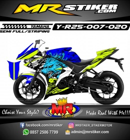 Stiker motor decal R25 Wolf Night Posion