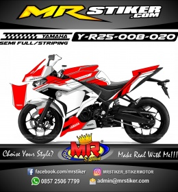 Stiker motor decal R25 Tech Strip