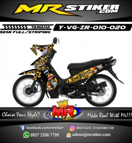 Stiker motor decal Vega ZR Dayak Culture