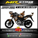 Stiker motor decal Vixion New Tiger Flame