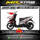 Stiker motor decal Xeon GT Red White Striping