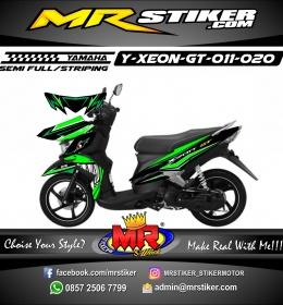 Stiker motor decal Xeon GT Shark Green
