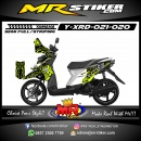 Stiker motor decal X-Ride Fox green highlighter