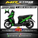 Stiker motor decal X-Ride New Green Monster Energy