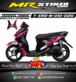 Stiker motor decal X-Ride New Fox Gradation grafis