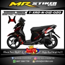 Stiker motor decal X-Ride New Batik Grafis