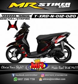 Stiker motor decal X-Ride New Batik Grafis