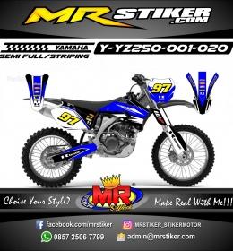 Stiker motor decal YZ 250 Blue Race