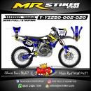 Stiker motor decal YZ 250 Rockstar Blue X Fox